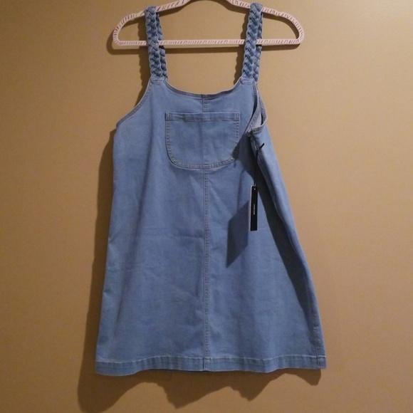 ce8bccdd2ce Lulu s Braided Denim Overall Dress